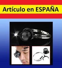 LUPA CABEZA 15x con LUZ LED reparacion relojes joyería lectura camara gafa