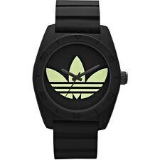 Adidas Santiago Black Silicone Strap Mens TreeFoil Watch ADH2853