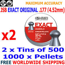 JSB EXACT ORIGINAL .177 4.52mm Airgun Pellets 2(tins)x500pcs