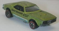 Redline Hotwheels Lime Green 1968 Custom Camaro oc8993