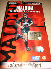 Paolo Maldini The Flag Red and Black Milan VHS DVD New