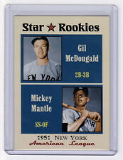Mickey Mantle & Gil McDougald '51 New York Yankees Star Rookies limited edition