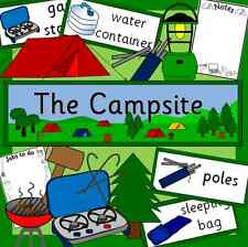 Campsite role play resource on CD- camping, tent, outdoor play, EYFS, KS1