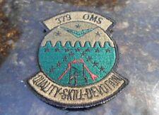 U.S.A.F. 379th OMS (Organizational Maintenance Squadron) Patch.
