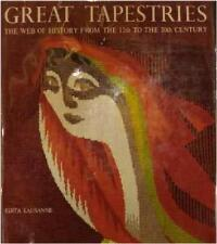 GREAT TAPESTRIES ~ WEB HISTORY FROM 12TH-20TH CENTURY ~ EDITA LAUSANNE ~ HC HUGE