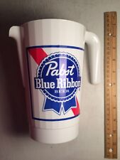 Pabst Beer White Plastic Pitcher