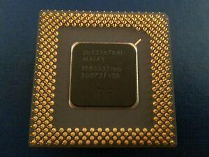 Intel Pentium 166mhz Vintage CPU with heatsink & fan SU072 Socket 7