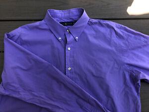 Men's Ralph Lauren Size XL Dress Shirt Nice Purple Great For Summer