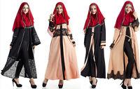 Dubia Style Abaya Maxi Dress Jilbab Muslim Cardigan Cocktail Islamic Kaftan Arab