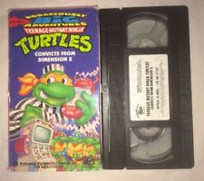 Teenage Mutant Ninja Turtles - Convicts From Dimension X (VHS, 1995) TMNT RARE