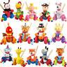 Cartoon animal cart Toys PUSH ALONG WOODEN TOY Baby/Toddler/Child Walking