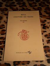 Revue d'histoire des textes - Tome huitième, 1978 - CNRS