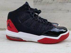 Jordan AirMax Aura Black + Red Sneakers AQ9214-006 Youth Size 5.5Y