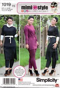 Simplicity Sewing Pattern 1019 Mimi G Style Knit Pants Tunic Cowl Size 18-26