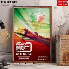 POSTER Locandina Tributo Monza Formula 1 Gran Premio Heineken d'Italia 2020 F1