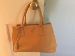Prada Galleria Gold  Saffiano Leather 2 WAY Tote Bag