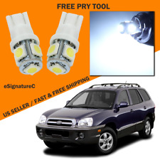 7 x White LED Interior Light Package For 2001 - 2006 Hyundai Santa Fe + TOOL