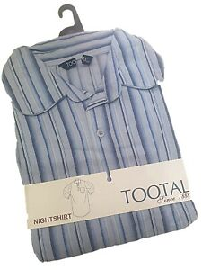 NEW MENS BOYS QUALITY TOOTAL BRUSHED COTTON STRIPED NIGHTSHIRTS GIFT S M L XL