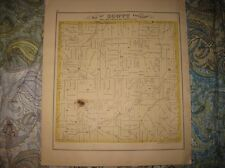 Antique 1874 Scott Township Rollersville Sandusky County Ohio Handcolored Map N