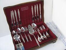 Vtg 1847 Rogers 1967-1973 Esperanto 8x5pc Place Setting +8 Serving Pcs Box Lot