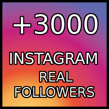 3000  REAL FOLLOWERS |BEST QUALITY|