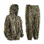 EAmber Ghillie Suit Youth 3D Leaf Camo Camouflage Lightweight Clothing Suits for