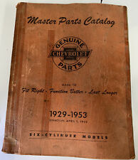 New Listing1929-1953 Chevrolet Master Parts and Accessories Catalog Book Six Cylinder Model