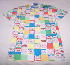Adventure Time Mens Finn Faces Sublimation Printed T Shirt Size XXXS New Marked
