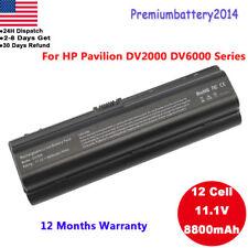 12 Cell Battery for HP Pavilion dv6000 dv2000 dv2200 dv2500 dv6100 dv6500 dv6700