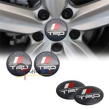 4PC 56.5mm TRD Racing Development Aluminum Wheel Center Hub Cap Emblems Stickers
