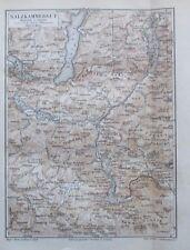 1889 Salzkammergut Österreich - alte Landkarte Karte old map