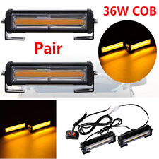 Pair Beacon 36W COB LED Auto SUV Emergency Warning Flash Strobe Beacon Light Bar