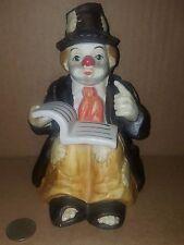 Vintage Emmett Kelly Sun Sain Hand Painted Clown Mechanical Musical Sankyo