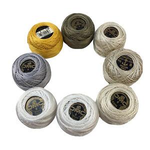 DMC Cotton Pearl Coton Perle Embroidery Thread 8 Balls Size 8