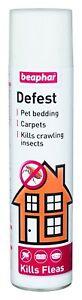 Beaphar Defest 400ml -Household Flea Spray pet bedding carpets kills insects