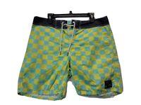 QUIKSILVER Mens Casual Board Swim Shorts Hybrid Blue Size 34