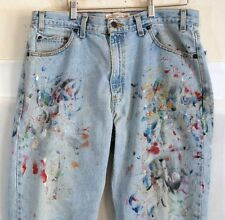 Levis Signature Jeans Zip Fly Distressed Paint Splattered Faded  36X30