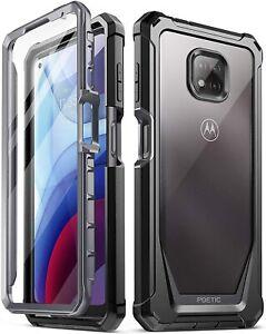 Motorola Moto G Power (2021) Case,Poetic® Dual Layer Shockproof Cover Black