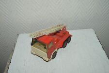 CAMION POMPIER  TOLE  JOUSTRA  16 CM  VINTAGE  1970/1980 FIRE TRUCK FRANCE