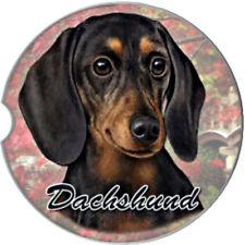 E&S Pets Absorbent Car Coaster Dog Breed Stoneware Black Dachshund Puppy