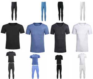New Mens  Thermal Long Johns Top Bottom Underwear Trousers T Shirt