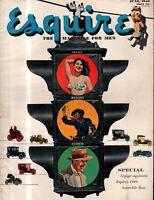 1949 Esquire June - Big automobile Issue; Alfred Hitchcock; Ingrid Bergman;