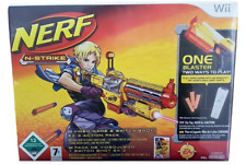NERF - NERF-N-STRIKE GAME & EX-3 BLASTER - PAL NINTENDO WII - NEW & SEALED