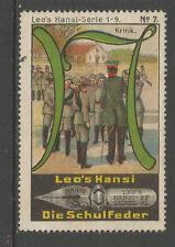 ALLEMAGNE/Leipzig Leo's HANSI schulfeder Publicité TIMBRE/LABEL (Boy Scouts #7)