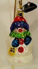 Cute~CHRISTborn~Happy Little Snowman~Mold Blown Glass Ornament/Gift~Germany