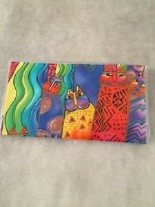 Santa Fe Felines Cats Laurel Burch Checkbook Cover Fabric & vinyl Handmade Gift