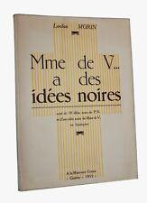 1955 Losfeld édition Madame de V... a des idées noires illustré érotique 10 ill.