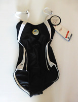 Speedo Clip Back Lycra One Piece Hydro Bra Swimsuit Womens 6/32 Black New