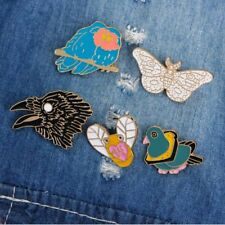 1PC Unisex Cartoon Animal Bee Butterfly Eagle Pigeon Brooch Decoration Bee Pins