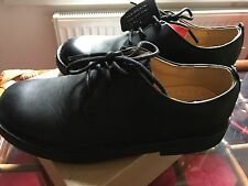 CLARKS boys  black leather shoes, size 2 / 34